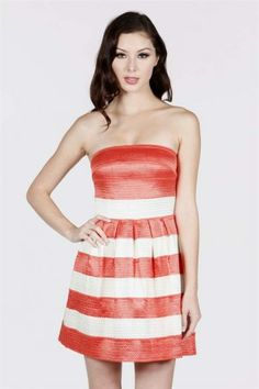 Shop Online | EmLee | Willa Boutique | EmLee and Willa Boutique Dress Me Up, Strapless Dress, Coral, Stripes, Boutique, Ivory, Shopping, Clothes, Tops
