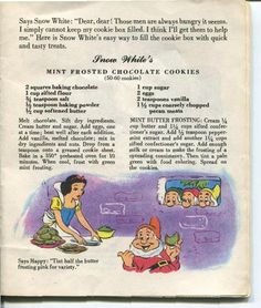 Vintage 1955 Walt Disney Snow White Dairy Recipe Book American Dairy ...