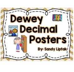 Teaching kids about the Dewey Decimal system is an important skill, especially if you want them to become independent library users. I created this set of Dewey Decimal posters to help them understand what types of books would be found in each of the 100-sections. I also included a PowerPoint Slideshow with the posters so it can be used to introduce the information and a set of black and white bookmarks to give them after the lesson for review.