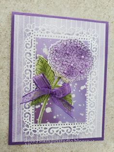 Becky's Stampin' Studio: Hydrangea Haven Ornate Frame 21 Cards, Stamping Up Cards, Flower Cards, Hydrangea, Making Ideas, Holiday Cards, Cardmaking, Stampin Up, Birthday Cards