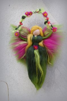 Christmas tree topper Needle felted Waldorf inspired Ornament Flower Fairy Lily of the valley Felted topper Felted doll - Nadelfilzen Ideen Felt Christmas, Christmas Angels, Felt Angel, Needle Felting Tutorials, Felt Fairy, Flower Fairies, Fairy Dolls, Wet Felting, Felt Dolls