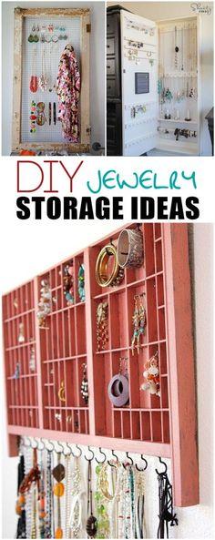 DIY Jewelry Storage Ideas #diyjewelry