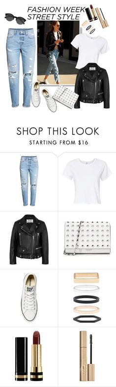 """FASHION WEEK STREET STYLE"" by shosho-mahmmod ❤ liked on Polyvore featuring RE/DONE, Acne Studios, Michael Kors, Converse, Accessorize, Gucci, Stila and EyeBuyDirect.com"
