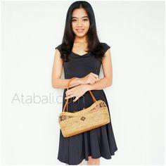 ladies fashion handmade rattan handbags straw ata unique