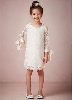 Buy discount Pretty A-Line Gown Scoop Neckline Knee-Length Flower Girl Dresses at Dressilyme.com