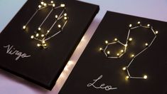 Your Own DIY Light Up Zodiac Sign Look to the stars (literally) with this super trendy, easy-to-make DIY constellation wall art.Look to the stars (literally) with this super trendy, easy-to-make DIY constellation wall art. Diy Wall Art, Diy Wall Decor, Wall Décor, Room Decor, Zodiac Art, Zodiac Signs, Constellations, Constellation Craft, Diys