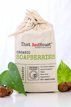 Natural laundry alternative | That Red House | Biome Eco Stores  ThatRedHouse Organic Soapberries or Soap Nuts are the natural alternative to traditional fabric softeners and laundry detergents. Harvested from the Sapindus Mukorossi tree, these fruits are a 100% natural way to wash your clothes. Can also be used as a concentrated all purpose liquid soap. Laundry Alternative, Green Cleaning Recipes, Soap Nuts, Traditional Fabric, Natural Cleaners, Organic Living, Fabric Softener, Biomes, Liquid Soap