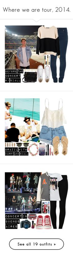 """""""Where we are tour, 2014."""" by directioneruruguaya ❤ liked on Polyvore featuring dVb Victoria Beckham, Ash Rain + Oak, Converse, Maybelline, Yves Saint Laurent, Chanel, Ana Khouri, Somedays Lovin, American Eagle Outfitters and 2b bebe"""