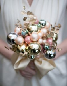 I've been looking at some awesome non-traditional bouquets lately...