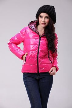 Buy Bright Rose Red Moncler Fashion Down Jacket for Women $229.99