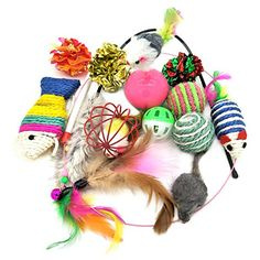 Cat Toys, PietyPet Pet toys Variety Pack for Kitten Kitty 13 pieces * For more information, visit image affiliate link.