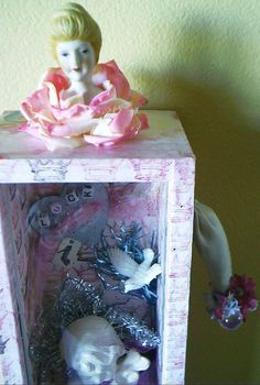 An altered doll shadow box by bridiemurphy