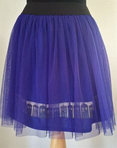 Blue Tulle TARDIS Doctor Who Skirt by UrbanGeek on Etsy