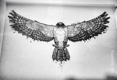 red tailed hawk geometric tattoo - Google Search                                                                                                                                                      More