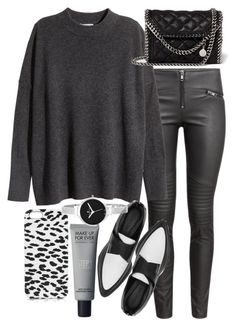 """""""Untitled #19013"""" by florencia95 ❤ liked on Polyvore featuring H&M, Helmut Lang, STELLA McCARTNEY, Yves Saint Laurent and Christian Van Sant"""