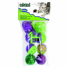 OurPets Go Cat Go 7-Piece Rolling in the Fun, Multi-Pack Cat Toys *** For more information, visit image link. (This is an affiliate link and I receive a commission for the sales)