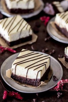 Brownie cheesecake bars with a thick layer of real cheesecake on top! Decadent, fudgy brownies topped with sweet, creamy cheesecake.