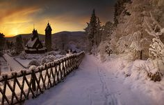 Vang stave #church ( #norse inspired)  #Vikings #Yule #Jul #Winter #Snow