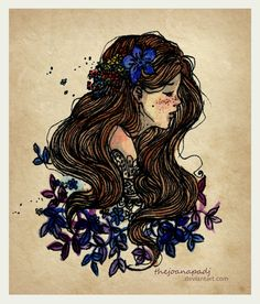 With flowers in my hair... by TheJoanaPADJ