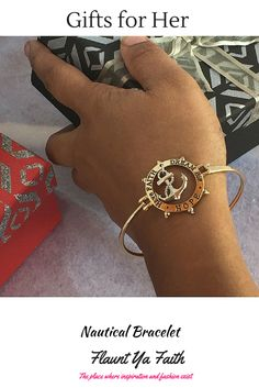 The anchor symbolizes hope and being grounded in what you believe. This inspirational bangle has a message to Have Faith, Dream Big, and to have Hope. A great reminder to hold fast to your faith in spite of what happens in life. #giftsforher
