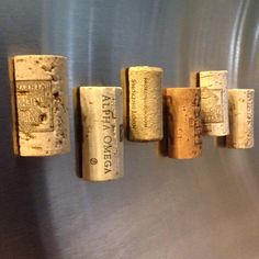 Looking to spice up your refrigerator or office? Here are the perfect fridge wine cork magnets! Set of 6 wine cork magnets that are sturdy & secure-