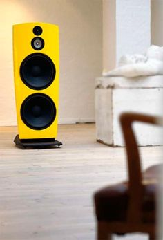 Jammo r909 open baffle speakers in high gloss yellow