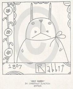 1807 Rabbit Stitchery