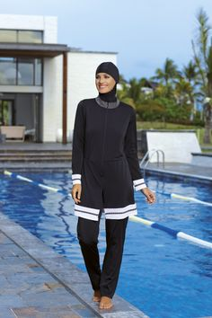 The 'Burkini' by SUNMARIN is the perfect solution for Muslim women who want the freedom to swim in comfort.