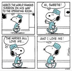 Snoopy, the Surgeon.