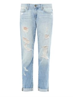 Tyler distressed boyfriend jeans by: PAIGE DENIM