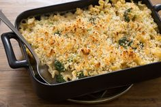 Creamy Broccoli & Fennel Casserole with Mafalda Pasta & Fontina Cheese. Visit https://www.blueapron.com/ to receive the ingredients.