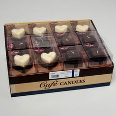 Chocolate Scented Candles In GiftBox Display / 48 pcs