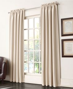 Sun Zero Charleston Satin Room Darkening Pole Top Curtain Panel Collection