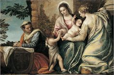 "Paolo Veronese, ""Madonna and Child with St. Elizabeth, the Infant St. John the Baptist, and St. Catherine"" (ca. 1565)"