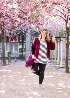 Cherry blossom street style from Cologne