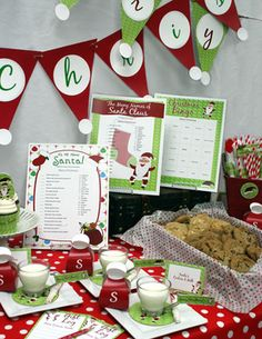 Printable Christmas Holiday and Winter Party Supplies Decor and Games