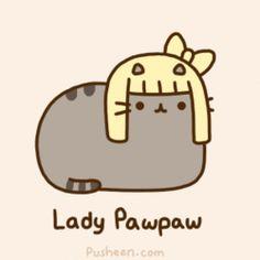 Cute pusheen version of Lady Gaga. 💜 So cute! Pusheen Gif, Pusheen Love, Pusheen Stuff, Crazy Cats, I Love Cats, Nyan Cat, Kawaii Cat, Kawaii Shop, Gif Animé