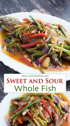 Sweet and Sour Whole Fish - Riverten Kitchen Fish Escabeche, Escabeche Recipe, Fish Recipes, Asian Recipes, Asian Foods, Filipino Recipes, Filipino Food, Deep Frying, Fried Fish