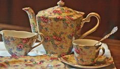 Royal Winton Chintz. Probably one of our all time favorite tea sets.