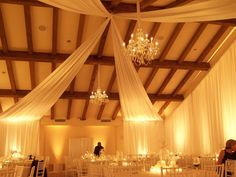 Ambient Event Design, fabric draping