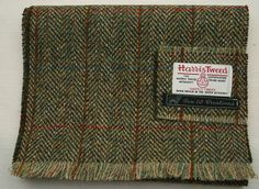 Harris Tweed Scarf in a Beautiful Green by Ten10Creations on Etsy