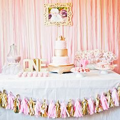 Pink and gold princess party: Aviana is 1!