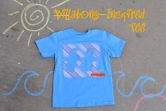 Today we are making this Billabong-inspired tee and it's pretty easy to do.   I took this $2 Wal-mart tee and some scraps from a shirt my hu...