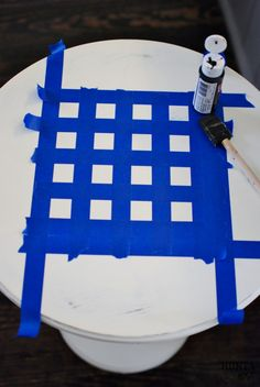 Checkerboard Table Makeover
