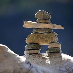 Waterton lakes, ab.  Inukshuk. Rock Sculpture, Sculptures Céramiques, Zen Rock, Rock Art, Native Art, Native American Art, Stone Cairns, Ephemeral Art, Crystal Garden