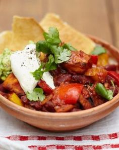 **Best Chili EVER!!** Jamie Oliver Vegetarian Chili **USE ONLY 1 CAN OF BEANS**