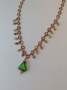 Duchess necklace Venetian Murano glass gold by ScarletMareStudio, $60.00