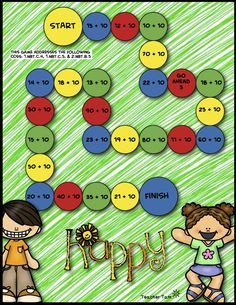 FREE! Math Game Boards (FREE!) for Addition, Subtraction, and Multiplication. Your students will enjoy practicing their math facts with these colorful, engaging games! The set includes 5 games: multiplication (2, 3, and 4), addition (with sums less than 10), subtraction (minuends of 10 or less), adding 10 to two-digit numbers, and subtracting 10 from two-digit numbers. The game boards come in full color as well as an ink-saving option.