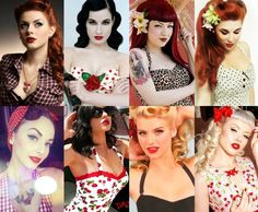 You'll find the best selection of retro and vintage, Audrey Hepburn and Marilyn Monroe dresses, retro shoes and swimwear, pin up accessories, picked for you Pin Up Looks, Look Rockabilly, Rockabilly Fashion, Punk Fashion, Lolita Fashion, Fashion Boots, Retro Pin Up, Pink Lady, Pin Up Mode