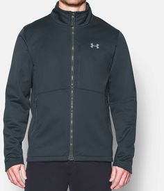 Men's UA ColdGear® Infrared Softershell Jacket, STEALTH GRAY, zoomed image